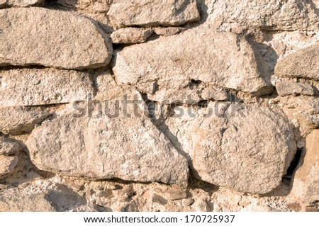 surface of the stone wall