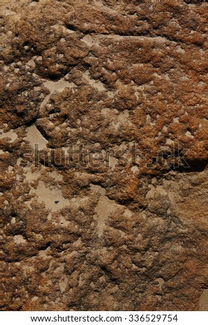 surface of the stone with brown tint