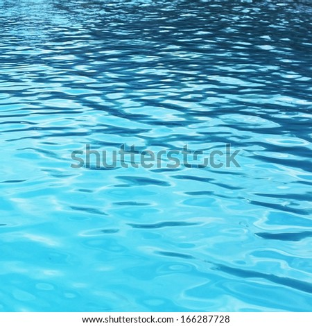 Surface of the water in pool - stock photo