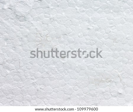 Surface of the white styrofoam