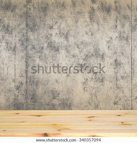 Surface of the wooden table on grunge background