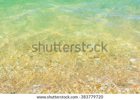 Surface of transparent liquid clear water of the sea for natural background. - stock photo