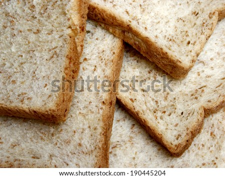 surface of whole wheat bread for background - stock photo