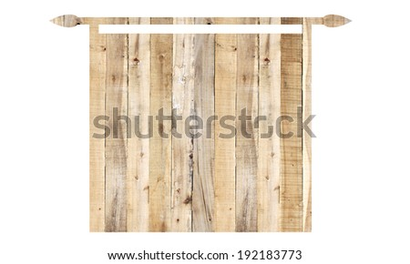 surface of wood in banners style isolated on white background.