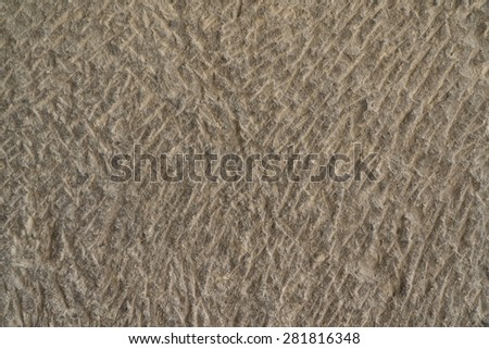 Surface-tooled stone background. Wall of hand made tunnel in Vardzia, Georgia - stock photo