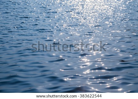 Surface water in the sunset time background