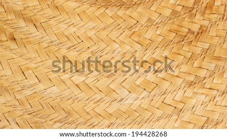 Surface woven bamboo pattern background