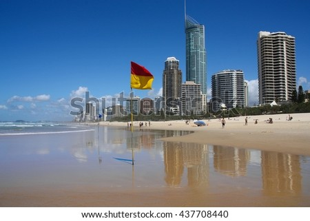 Surfers Paradise, Australia - city skyline in the Gold Coast. - stock photo