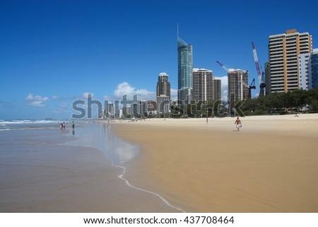 Surfers Paradise, Australia - city skyline in the Gold Coast. - stock photo