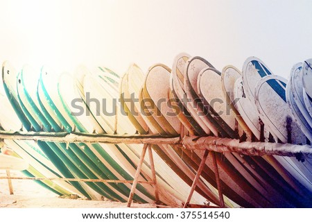 Surfing board - stock photo