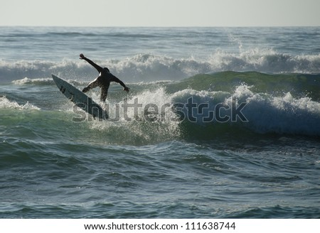 surfing jump - stock photo