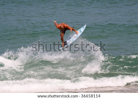 surfing wave