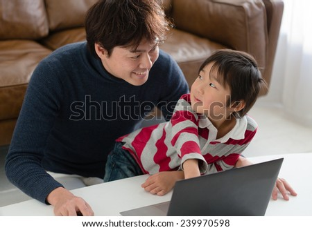 Surfing World Wide Web Together  - stock photo