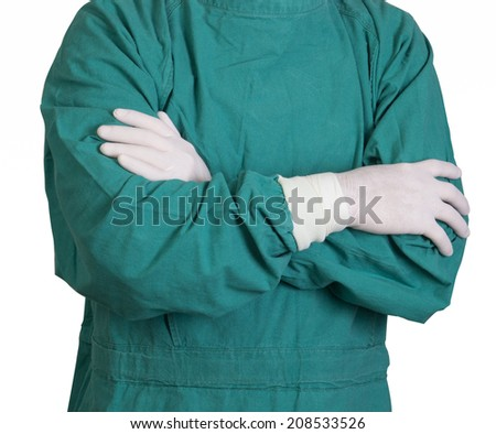 Surgery Doctor Green Gown Stock Photo (Royalty Free) 208533526 ...