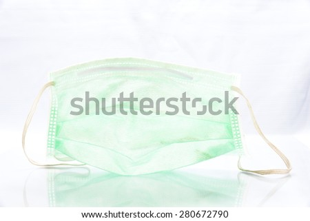 Surgical Ear-Loop Mask on White