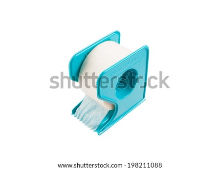Surgical tape isolated on white background - stock photo