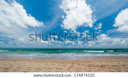 Surin bay island Phuket  in Thailand - stock photo