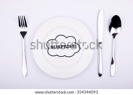 Surprise meal on dining set