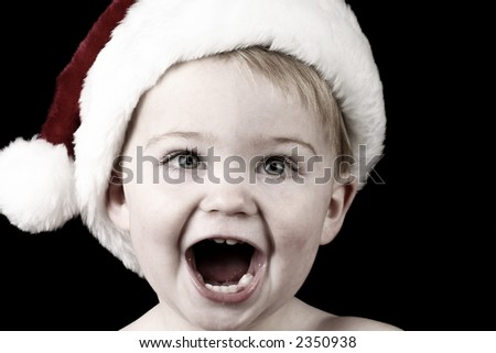 Surprise Santa Baby - stock photo
