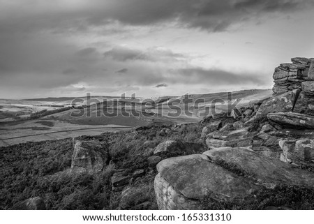 Surprise View At Owler Tor Peak District National Park Shefield Uk