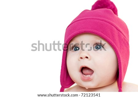 Surprised baby - stock photo