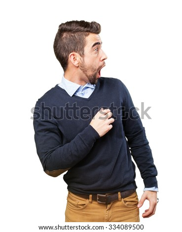 surprised cool man - stock photo