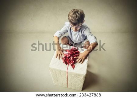 Surprised little boy  - stock photo