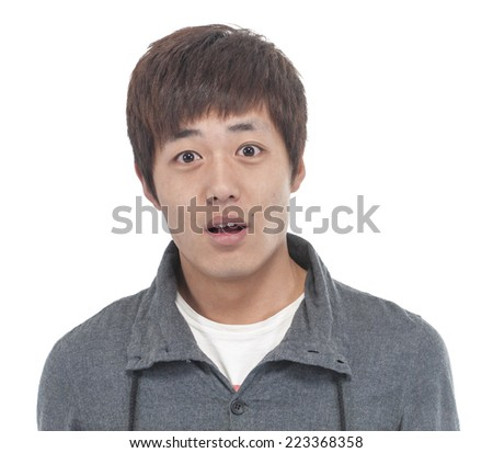 surprised man - stock photo