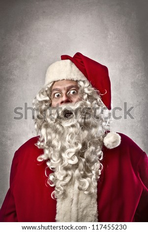 Surprised Santa Claus - stock photo