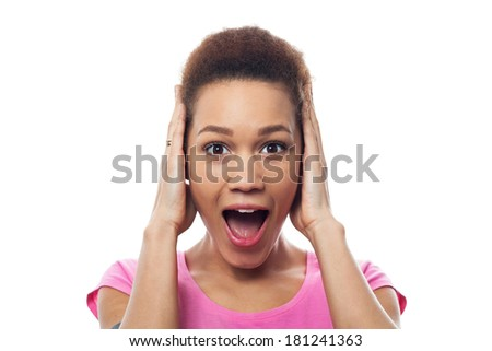 Surprised young woman