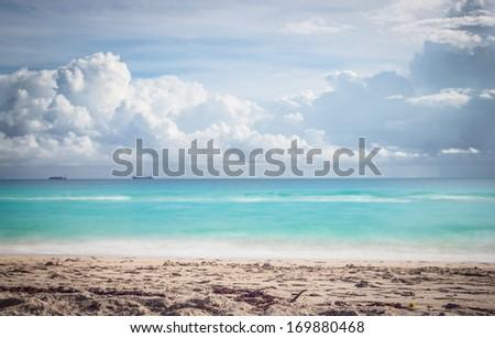 surreal beach view - stock photo