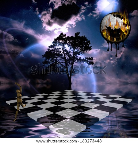 Surreal Composition - stock photo