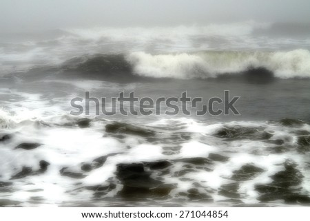 Surreal Photography of a Storm Surge - stock photo