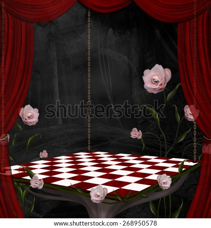Surreal stage - stock photo