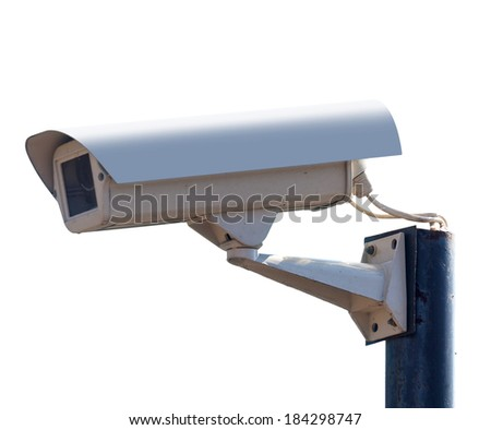surveillance Camera, isolated white background