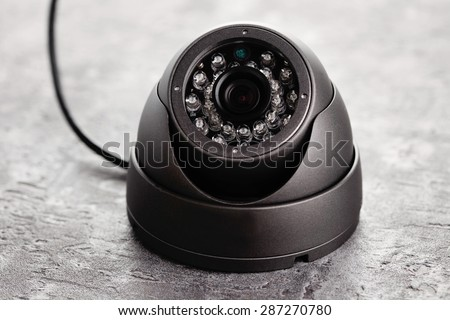 surveillance camera - monitoring system - stock photo