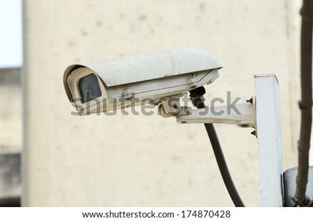 Surveillance Security Camera or CCTV - stock photo