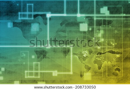 Surveillance Security Technology as a Global Art - stock photo