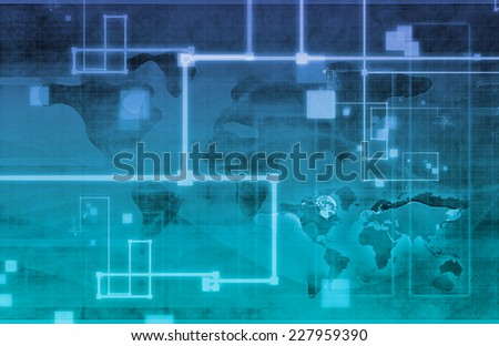 Surveillance Security Technology as a Global Art - stock photo
