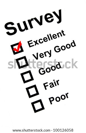 Survey page - stock photo