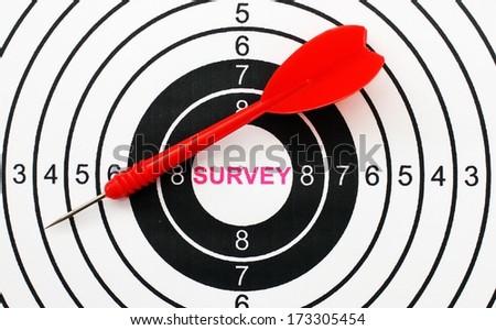 Survey target concept - stock photo