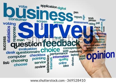 Survey word cloud - stock photo