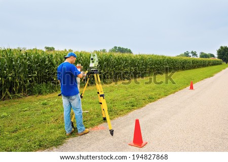 Surveying the village summer time - stock photo