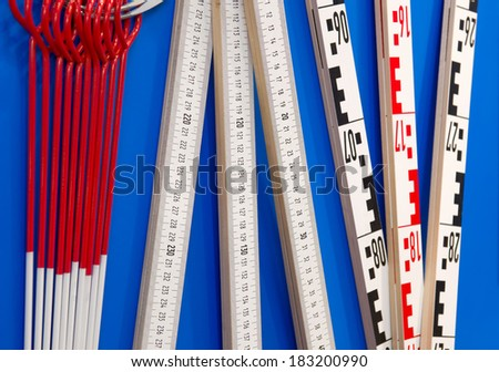 Surveying tools - stock photo