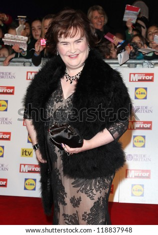 Susan Boyle arriving for the 2012 Pride of Britain Awards, at the Grosvenor House Hotel, London. 29/10/2012 Picture by: Alexandra Glen - stock photo
