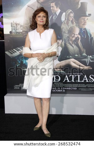 Susan Sarandon at the Los Angeles premiere of 'Cloud Atlas' held at the Grauman's Chinese Theatre in Hollywood on October 24, 2012.  - stock photo