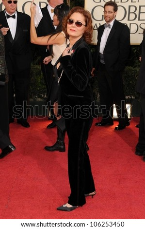 Susan Sarandon at the 66th Annual Golden Globe Awards. Beverly Hilton Hotel, Beverly Hills, CA. 01-11-09