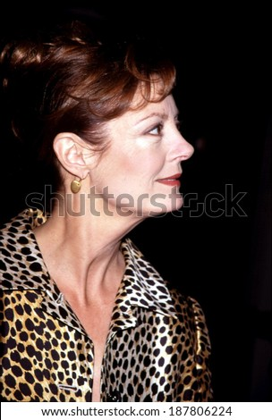 Susan Sarandon in a Dolce & Gabanna outfit at the New York premiere of ANYWHERE BUT HERE, 11/8/99