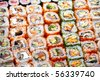 Sushi and rolls - stock photo