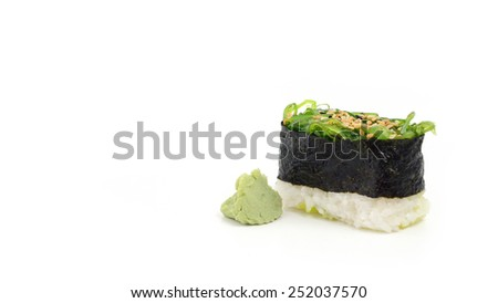 Sushi food on white background - stock photo